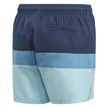 Short Adidas Natação Colorblock Infantil - Marinho e Azul