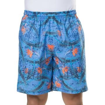 Short Elite Estampado Plus Size Masculino - Azul