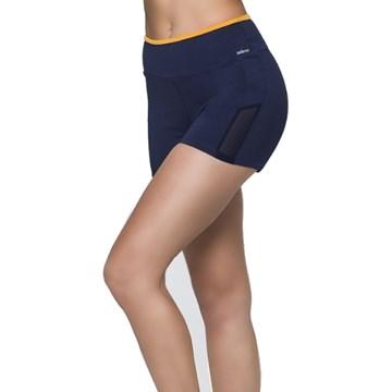 Short Selene Fitness Com Recorte Feminino - Marinho