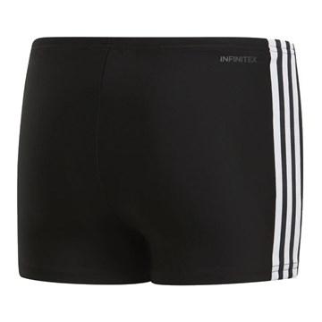 Sunga Boxer Adidas 3-Stripes Infantil - Preto e Branco