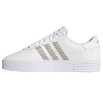 Tênis Adidas Court Bold Feminino - Branco e Dourado
