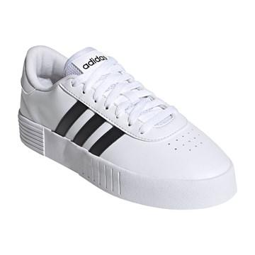 Tênis Adidas Court Bold Feminino - Branco e Preto
