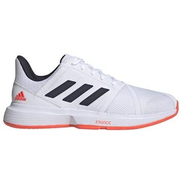 Tênis Adidas Courtjam Bounce Masculino - Branco e Laranja