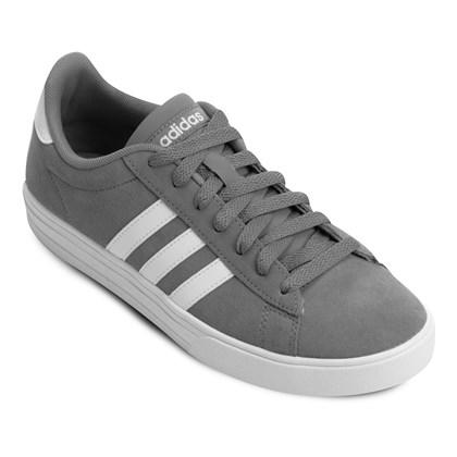 0a0997462bc0e Tênis Adidas Daily 2 Masculino - Cinza e Branco - Esporte Legal