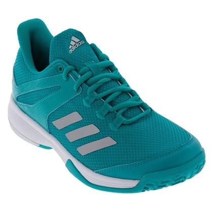 6962d12664 Tênis Adidas Jogar Tenis Adizero Club Infantil - Verde e Branco ...