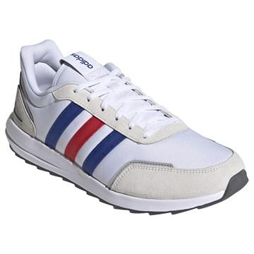 Tênis Adidas Retrorun Masculino - Branco, Azul e Vermelho
