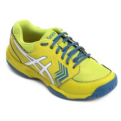 Tênis Asics Gel-Dedicate 5 A Masculino - Amarelo e Azul - Esporte Legal 6087a6e81264c