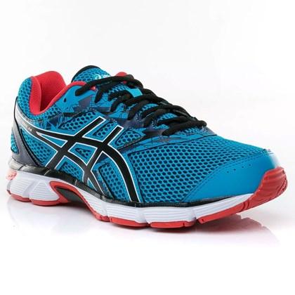 Tênis Asics Gel-Excite 4 Masculino - Azul e Vermelho - Esporte Legal 18023ed8da514