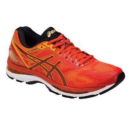 Tênis Asics Gel Nimbus 19 - Vermelho e Amarelo - Esporte Legal 4185a221f42b7
