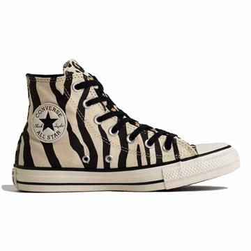 Tênis Converse All Star Chuck Animal Print Hi Bege Preto CT13600001