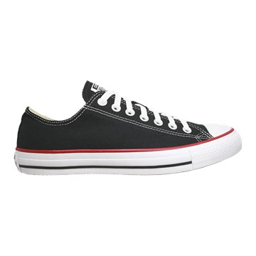 Tênis Converse All Star Chuck Taylor As Core Ox Preto Vermelho CT00010007