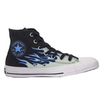 Tênis Converse All Star Chuck Taylor Flame HI Preto Azul CT15130001
