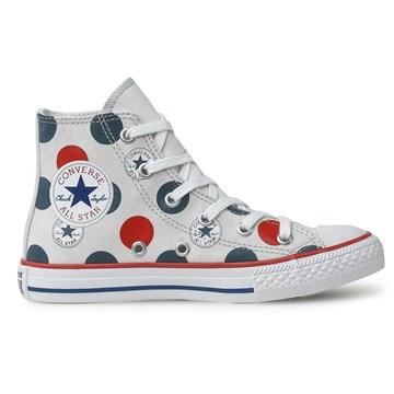 Tênis Converse All Star Chuck Taylor Kids HI Cinza Claro CK08450001