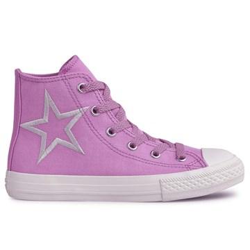 Tênis Converse All Star Chuck Taylor Kids HI Rosa Claro CK08160001