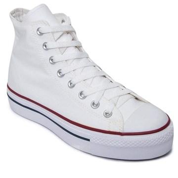 Tênis Converse All Star Chuck Taylor Platform HI Branco Marinho CT04940003