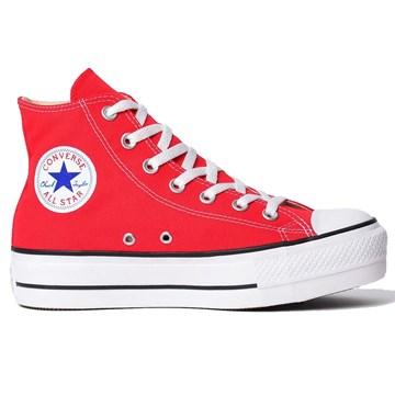 Tênis Converse All Star Chuck Taylor Platform HI Vermelho Preto CT04940002