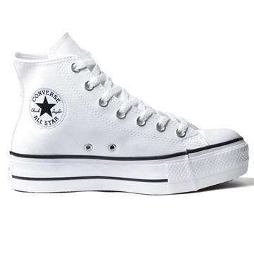Tênis Converse All Star Chuck Taylor Platform Lift HI Branco Preto CT09820001