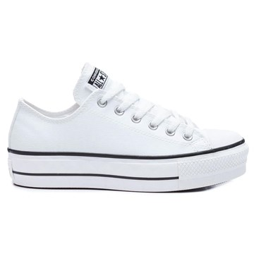 Tênis Converse All Star Chuck Taylor Platform Lift Ox Branco Preto CT09830001