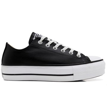 Tênis Converse All Star Chuck Taylor Platform Lift Ox Preto Branco CT09830002