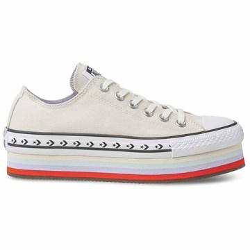 Tênis Converse All Star Chuck Taylor Platform OX Bege Claro CT13960001