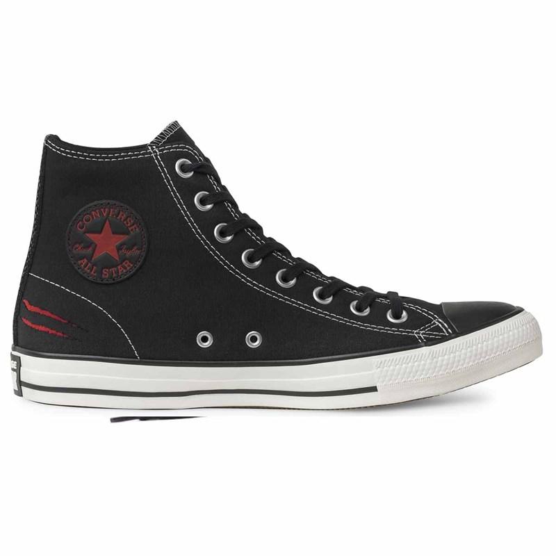 Tênis Converse All Star Chuck Taylor SKT Biano Bianchin HI Preto Vermelho CT13510001