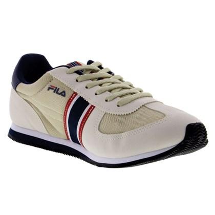 e0b7876dfc Tênis Fila F Retro Sport Masculino - Branco e Marinho - Esporte Legal