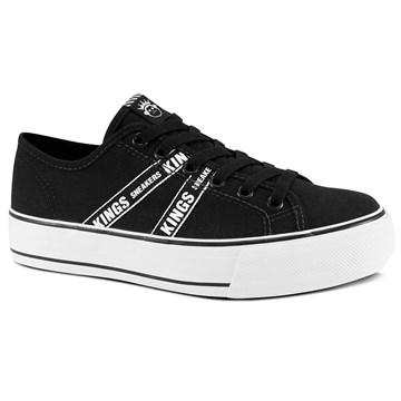 Tênis Kings Sneakers Lona Esportiva 3009 Preto