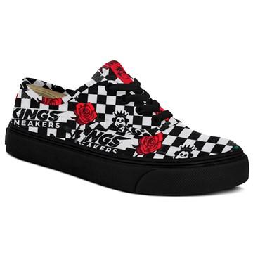 Tênis Kings Sneakers Oxford 3004 Quadriculado