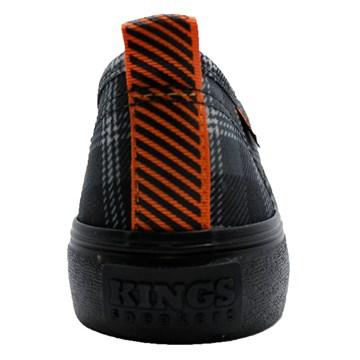 Tênis Kings Sneakers Oxford Resinado 3007 Xadrez Preto