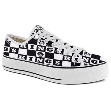 Tênis Kings Sneakers Oxford Resinado 3008 Preto Branco