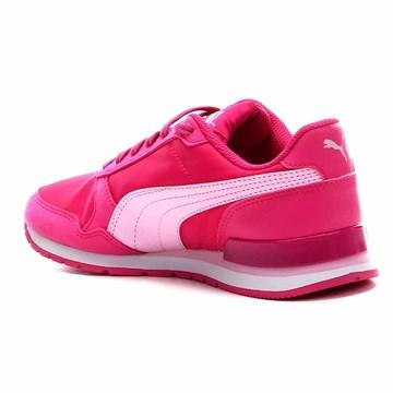 Tênis Puma Runner V2 NL Infantil - Pink e Branco
