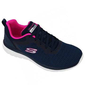 Tênis Skechers Bountiful-Quick Path Feminino - Marinho e Rosa
