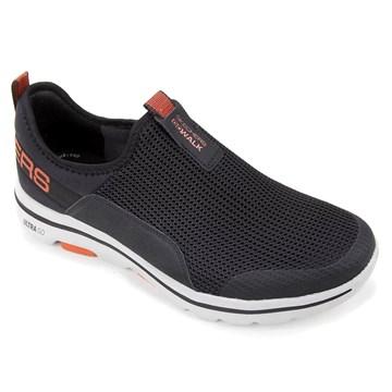 Tênis Skechers Go Walk 5 Downdraft Masculino - Preto e Laranja