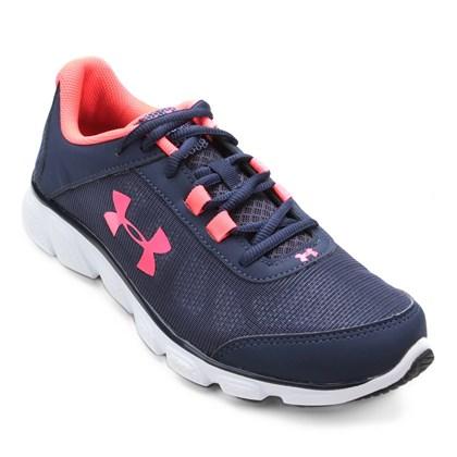 5658ecdf077 Tênis Under Armour Micro G Assert 7 W - Azul e Pink - Esporte Legal