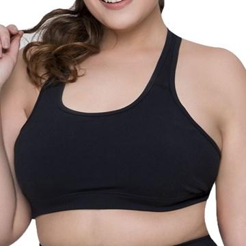 Top Selene Básico Fitness Plus Size Feminino - Preto