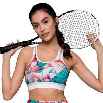 Top Selene Fitness Com Bojo Feminino - Jade e Pink